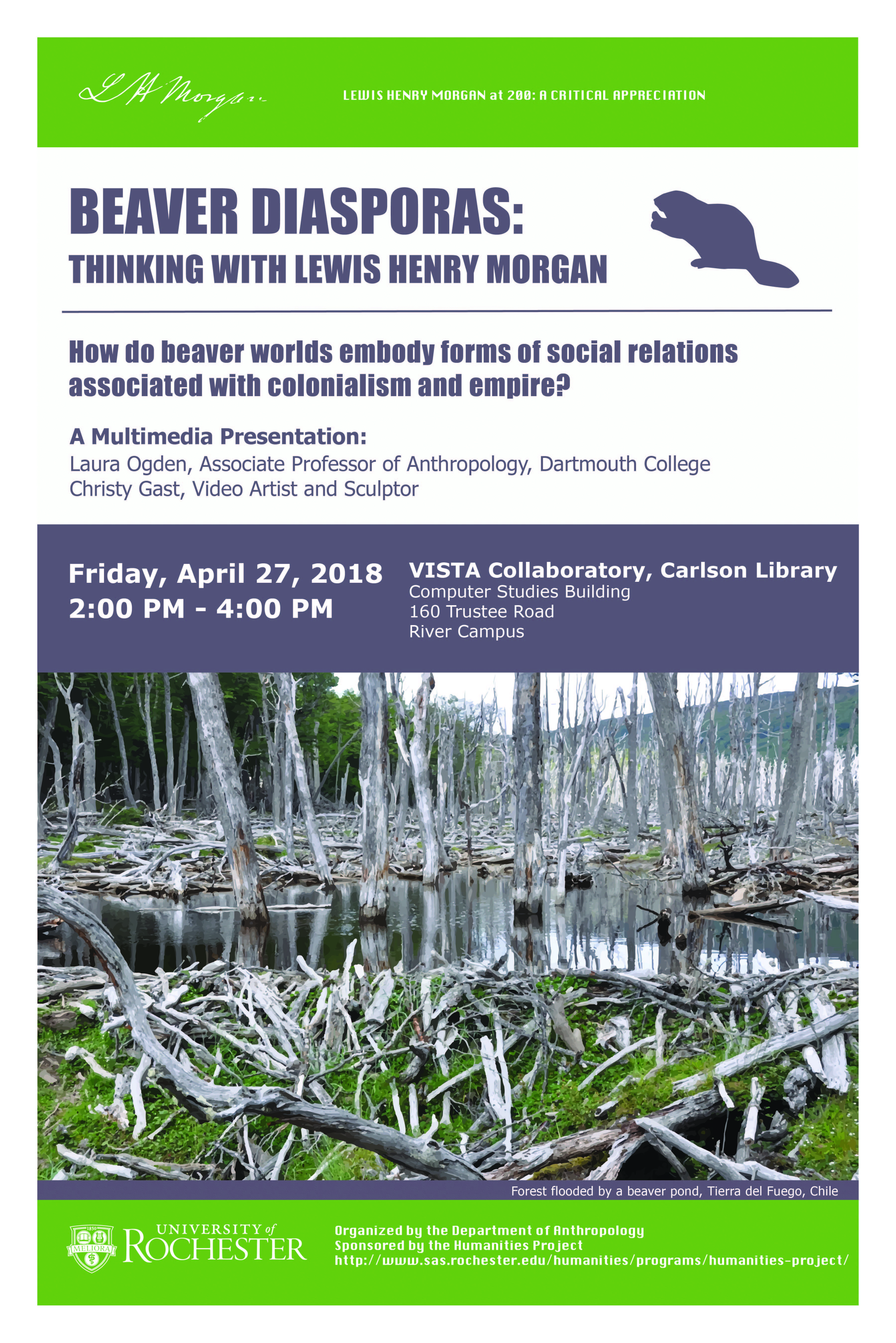 Multimedia Presentation: Beaver Diasporas: Thinking with Lewis Henry Morgan